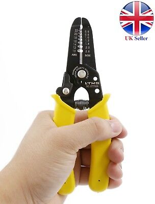 Wire Cable Stripper Cutter Pliers Crimping Tool Adjustable Pro. Electrician Tool
