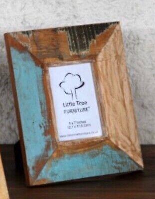 RRP £39 Handmade Solid Reclaimed Wood 'Katiya' Hardwood Painted Picture Frame
