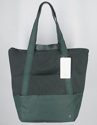 NEW LULULEMON Hot Mesh Tote Bag Dark Forest Travel Gym Yoga Weekend FREE SHIP