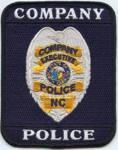 NORTH CAROLINA NC COMPANY EXECUTIVE SPECIAL POLICE PATCH