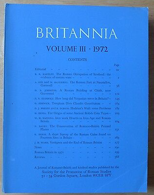 Britannia: a Journal of romano-british and kindred Studies. Volume 3, 1972