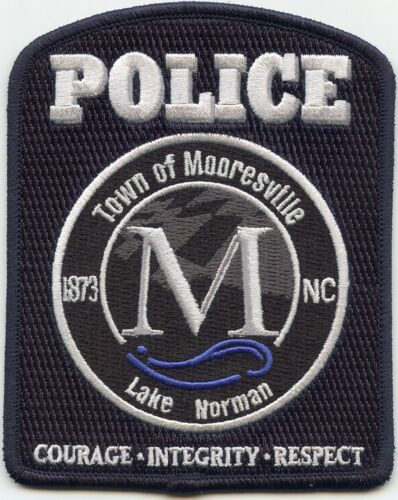 MOORESVILLE NORTH CAROLINA NC Courage Integrity Respect POLICE PATCH