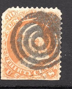 United-States-1861-30-Cents-Benjamin-Franklin-nice-cancelled