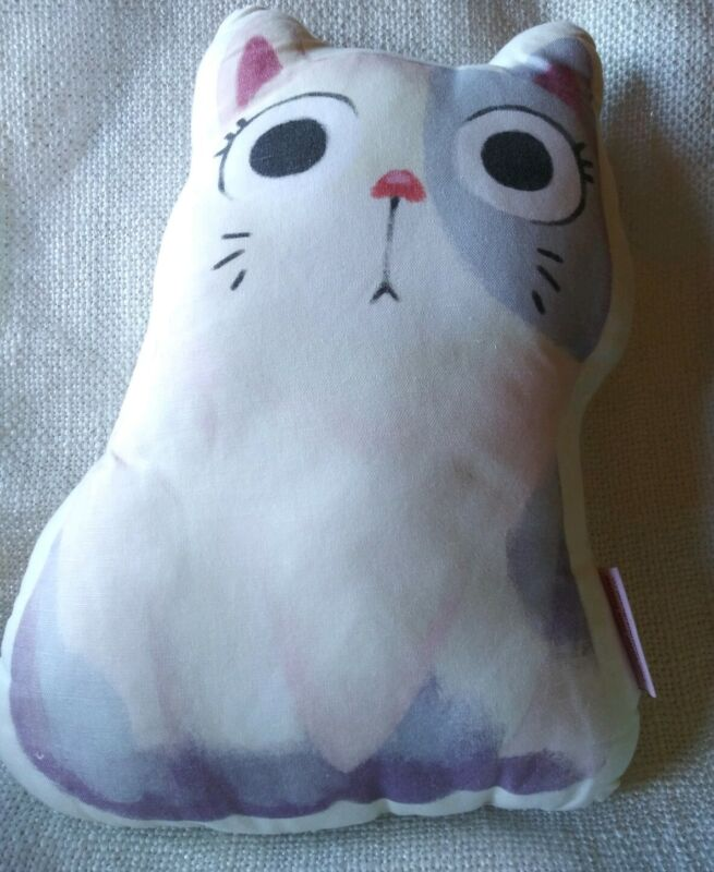 The Little Red House Chubby Cat Cushion Pillow, Kitty Cat, Cat Lover