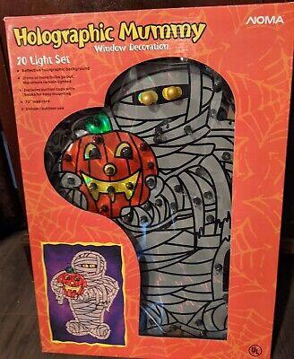 Noma Holographic Mummy Window Decoration w/Box RARE Halloween 1967