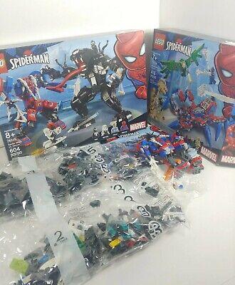 Open Box Lot Lego Spider-Man Marvel 76115 Spider Mech vs. Venom & 76114 crawler