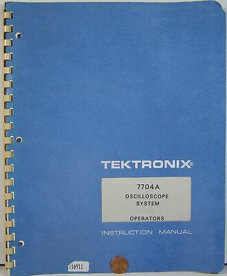 Tektronix 7704a Oscilloscope System Operators Instruction Manual