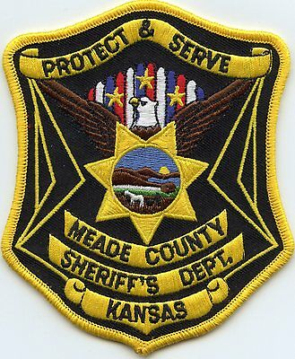 MEADE COUNTY KANSAS KS SHERIFF POLICE PATCH