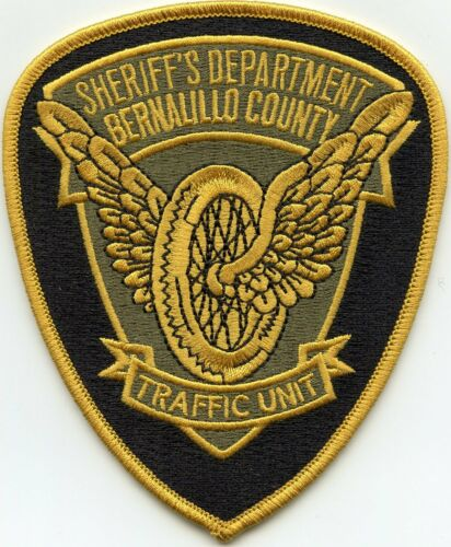 BERNALILLO COUNTY NEW MEXICO NM Motorcycle Wheel TRAFFIC SHERIFF POLICE PATCH