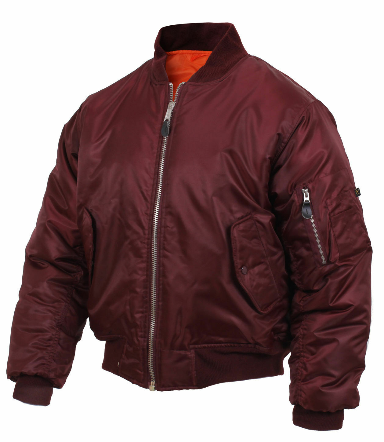 Rothco MENS Flight Jacket Maroon MA1 Military Style MA-1 Bom