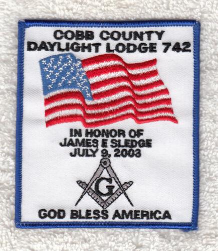 T9203 COBB COUNTY DAYLIGHT MASONIC LODGE 2003 - COBB COUNTY, GA - PATCH