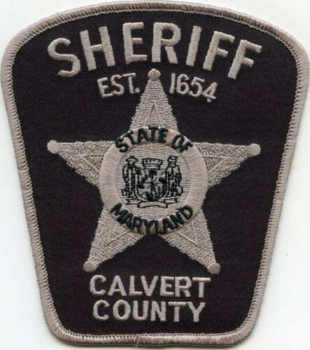 CALVERT COUNTY MARYLAND MD subdued SHERIFF POLICE PATCH