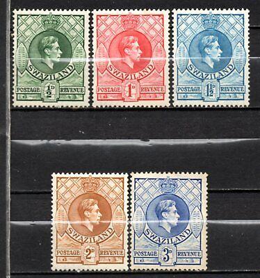 Swaziland KG VI era mint no gum collection, stamps as per scan(10321)