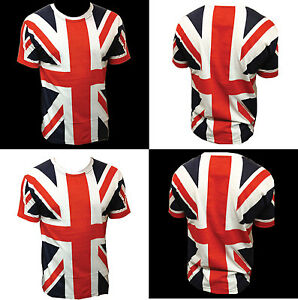 UNION-JACK-T-SHIRT-for-KIDS-Full-length-UK-GB-Flag-Printed-Children-UNISEX