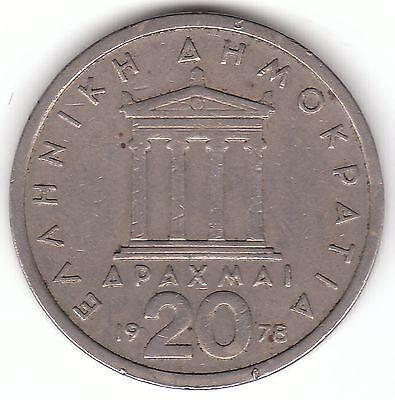 Greece 20 Drachmai 1978 Copper-nickel Coin - Pericles