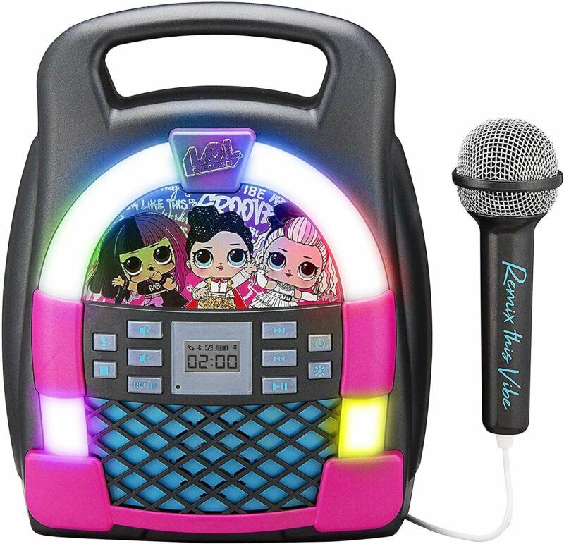 eKids LOL Surprise! Remix OMG Bluetooth Karaoke Machine MP3 Player Portable...