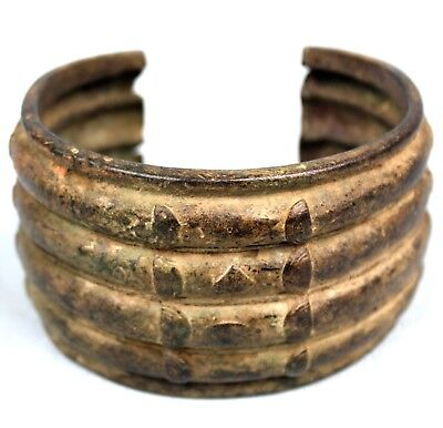 Art African Ethnic - Bracelet Bronze Akan - Object Common - Jewelry Antique