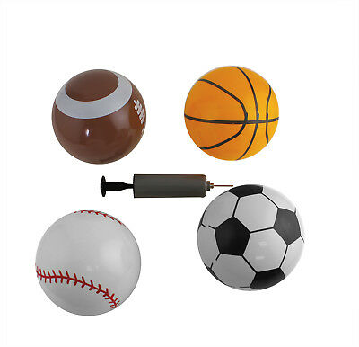 4pc Mini Vinyl Toddlers Playground Party Favor Toys Sport Play Balls for Kids