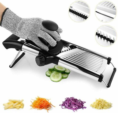 Adjustable Stainless Steel Mandoline Slicer Food Cutter Kitchen Handheld Tool