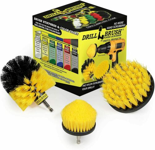 Drill Brush Power Scrubber by Useful Products - Toilet Bowl Cleaner - Toilet Bru