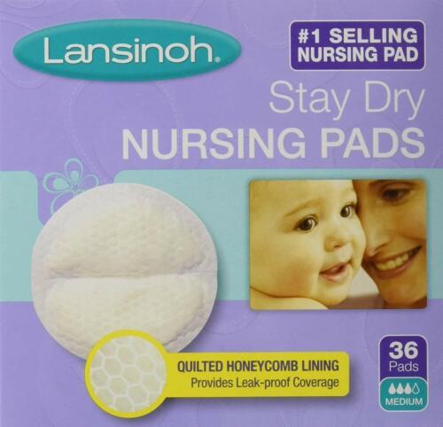 Lansinoh Stay Dry Disposable Nursing Pads Medium - 36 Pads -NEW (BB01)