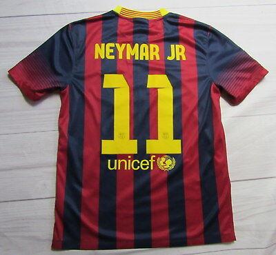 b6b8236fb84 NEYMAR JR #11 FC BARCELONA home jersey shirt NIKE 2014-2015 BRACA adult  SIZE M