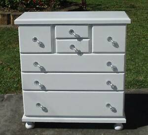 REFURBISHED 7 DRAWER TALL BOY GLOSS WHITE | Dressers & Drawers | Gumtree Australia Brisbane ...