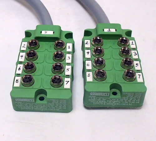 Phoenix Contact Housing Sacb-8/ 4p-5, 0pur-m8 - 1680076 W/ 1 Ft Cable, Lot Of 2