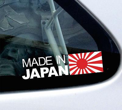 Made in Japan, JDM rising sun theme vinyl sticker / decal