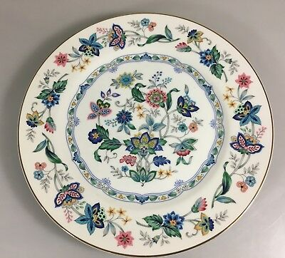 """Andrea by Sadek Garden of India China Dinner Plate 10.5"""" Gold Rim Made in Japan"""