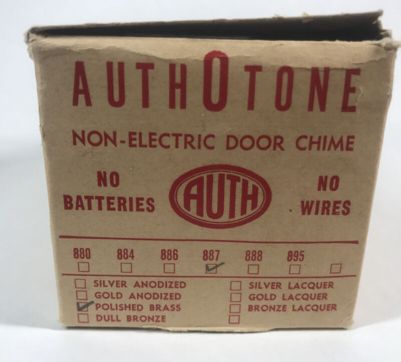 Vintage Authotone National Model 887 Mechanical Door Chime