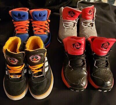 Unique Boys Shoes (Adidas Kids Shoes - Unique Hightops (Lot of 7 + Water Sandals) Sizes 10k)