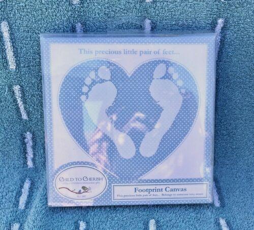 Footprint Canvas By Child to Cherish  Blue/White
