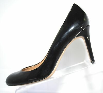 """ANN TAYLOR Black Patent Leather Upper Round Toe with 3 1/4"""" Heel 6.5M (3123)"""