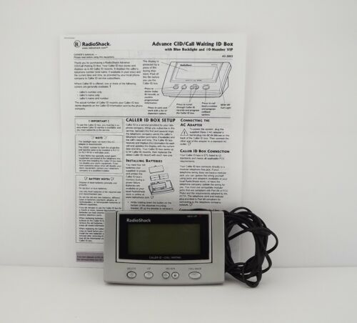 Genuine Radio Shack (43-3903) Battery Operated Caller ID/Call Waiting *READ*