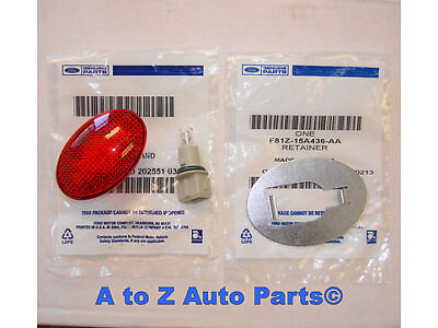 NEW 1999-2010 Ford F350-F450 SUPER DUTY Rear Fender RED Side Marker Lamp & Clip