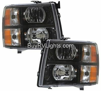TIFFIN ALLEGRO 2013-2015 BLACK PAIR LEFT RIGHT HEADLIGHTS HEAD FRONT LAMPS RV