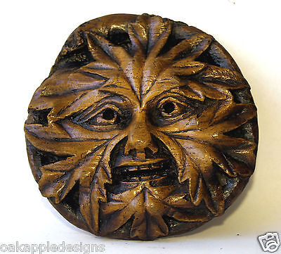 Green Man Reproduction Medieval Cathedral Carving Gothic Pagan Gift Greenman Oak