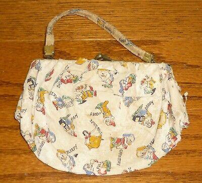 1930s Handbags and Purses Fashion Vintage Children's Purse Snow White and the Seven Dwarfs, Walt Disney, 1930s? $28.95 AT vintagedancer.com