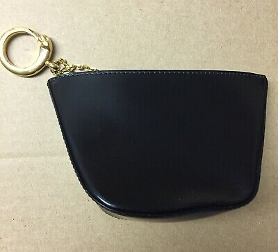 Cartier Panthere Black Leather Clutch Bag Triangle Pochette Purse Authentic
