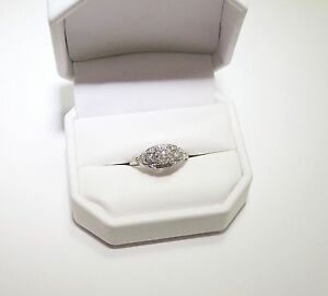 Rare Antique Vintage Estate Art Deco Mine Cut Diamond Engagement Wedding Ring
