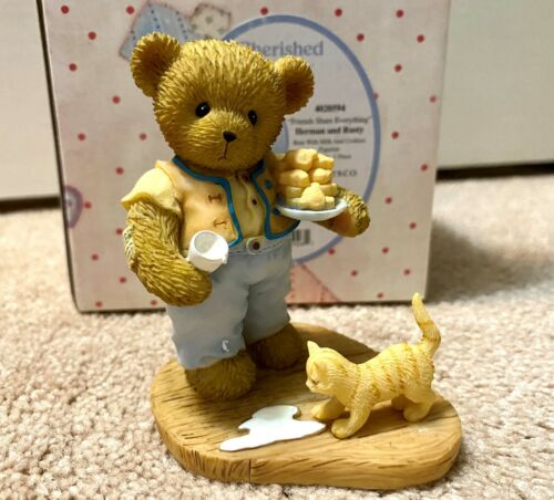 Cherished Teddies 2011 LE Herman & Rusty Friends Share Everything Cat 4020594