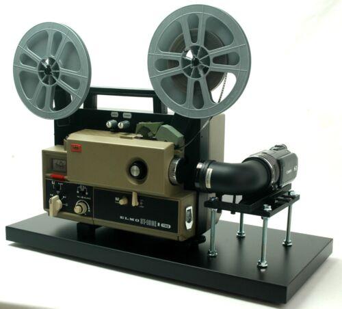 ELMO Super 8 Sound Movie Projector, Telecine Video Transfer  Built-In HD Camera