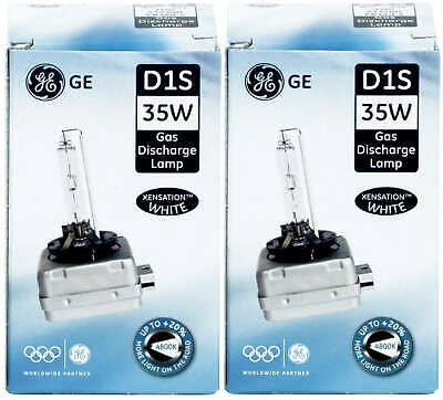 2x D1S Xenon 35W Scheinwerfer Lampen Xenarc General Electric GE Xenstation White