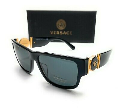 Versace VE4369A GB1 87 Black Gold Men's Pillow Sunglasses 58-17