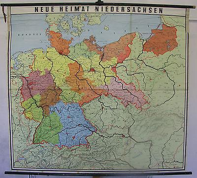 Schulwandkarte Wandkarte Schulkarte Heimat und Nachbarn Deutschland 169x156cm