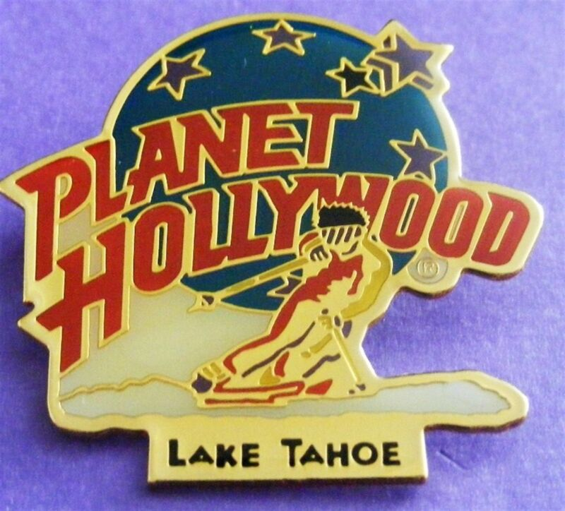 Planet Hollywood LAKE TAHOE Skier with Classic Globe Logo Lapel PIN Mint NEW!