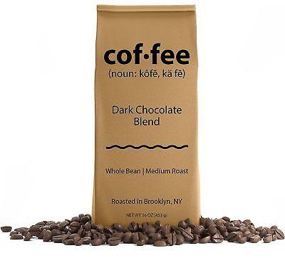 Dark Chocolate Blend Whole Bean Coffee, Medium Roast, 1-Pound Bag