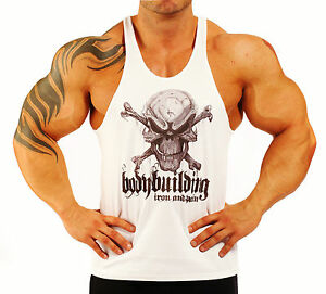 KODOO Just Do Gym Uomo Palestra Canotta Smanicato Bodybuilding Canottiera Cotone Sport Tank Top Allenamento Fitness Veste