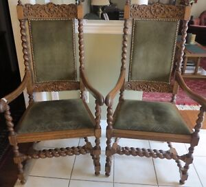 Pair of  Barley Twist chairs